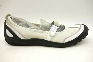 clarks privo white leather adjustable casual driving flats