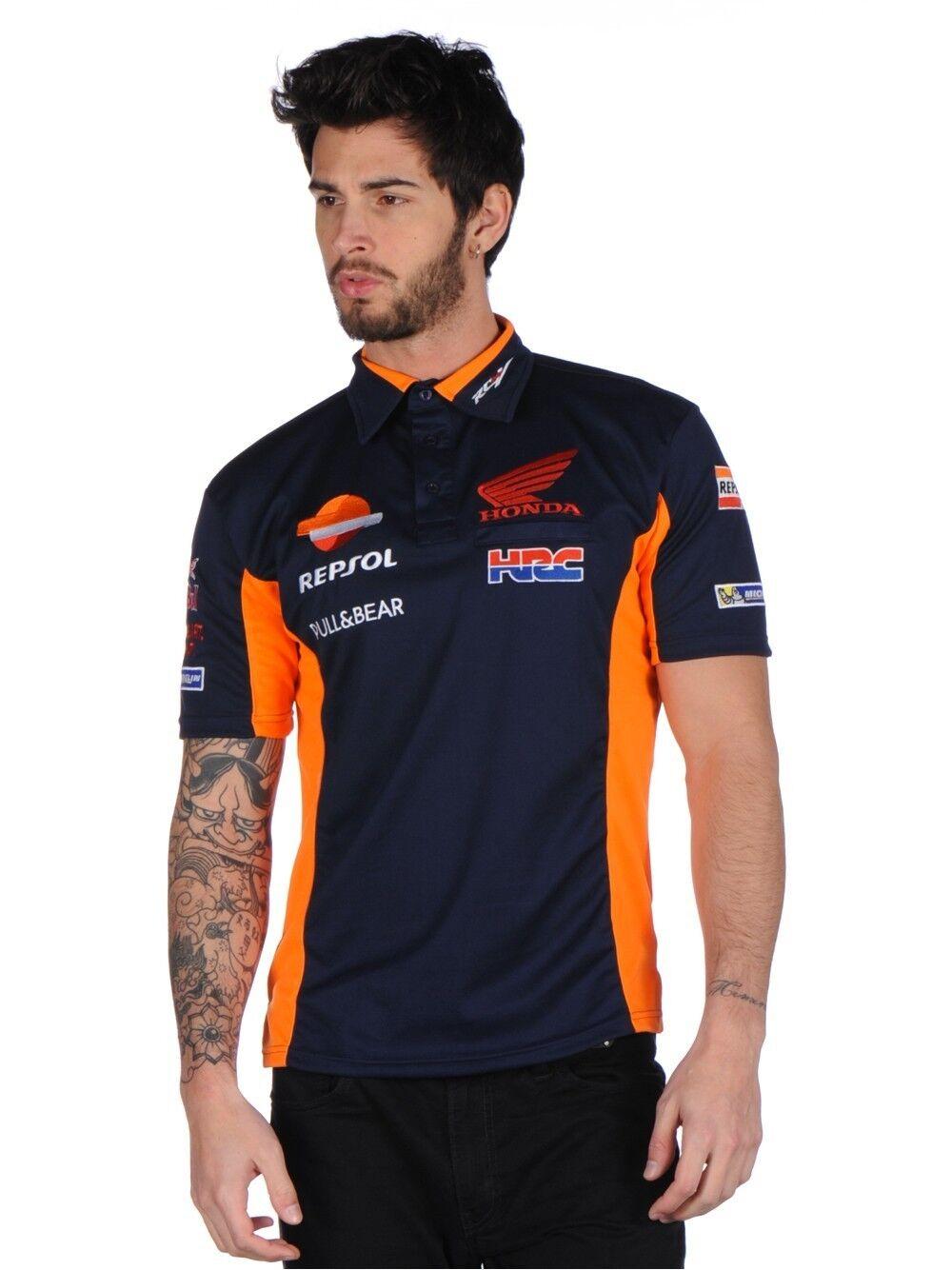 Official Respol Honda Team Blau Polohemd - 17 18501