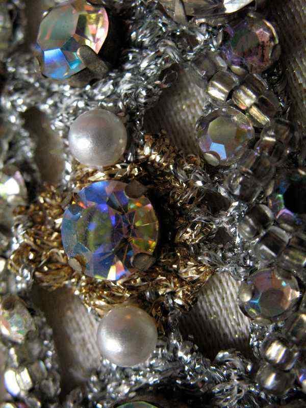 Ceil Chapman Dress VTG 60s Metallic Silk Aurora B… - image 8