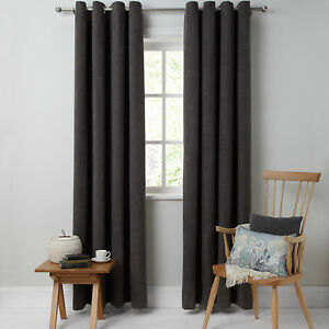 John Lewis HATCH CHENILLE Eyelet Lined CURTAINS Grey X Cm - John lewis curtains grey