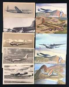 D1468 : (80 1940's -70's Airplane Cartes Postales; Look