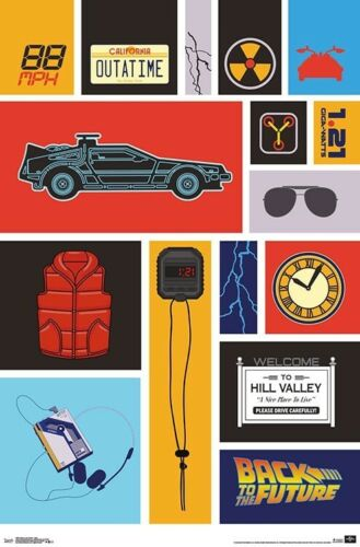 GRID POSTER BACK TO THE FUTURE 22x34 MOVIE 18081