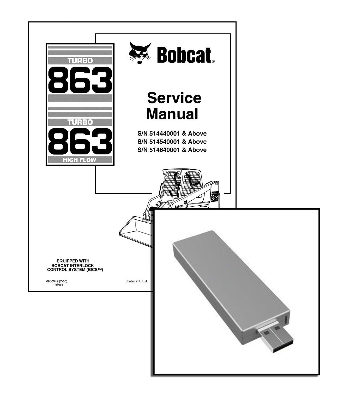 Paper Copy Bobcat 863 Turbo Highflow Workshop Repair Service Manual 6900942