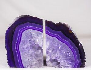 6-7Lbs-Agate-Bookends-Geode-Crystal-Polished-Brazil-Specimen