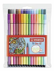 Premium-Filzstift-STABILO-Pen-68-30er-Pack-mit-verschiedenen-Farben