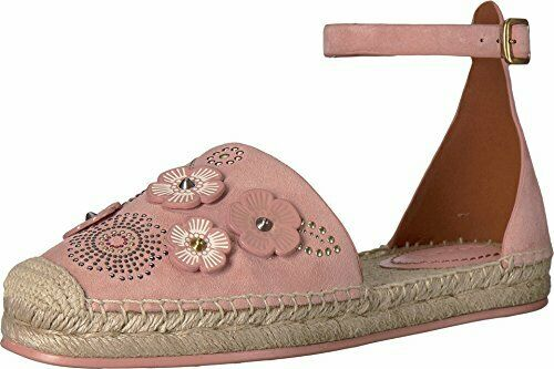 Coach Womens Ankle Strap Astor Crocodile Closed Toe Special, Peony, Size 8.5