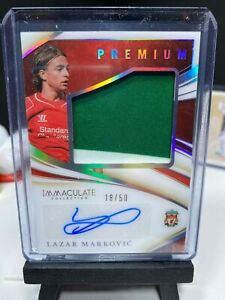 2020 Immaculate Soccer LAZAR MARKOVIC Match Worn Patch Autograph 18/50 AUTO