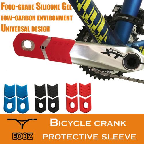 Bicycle Crankset Crank Arm Protector Silicone Gel Crank Protective Sleeve Cover