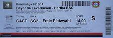 TICKET 2013/14 Bayer 04 Leverkusen - Hertha BSC (Gast)