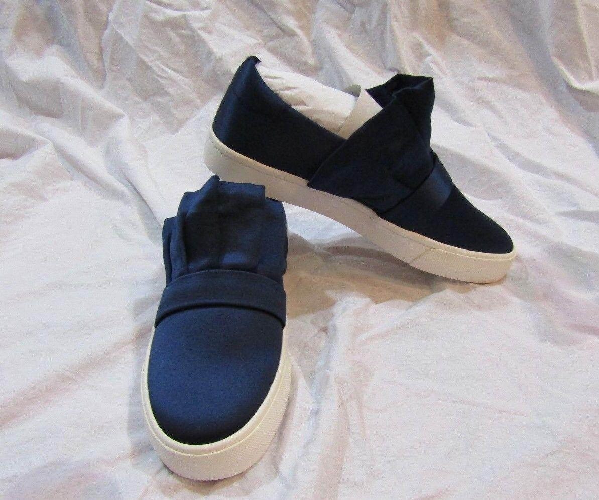 LOUISE ET CIE Womans Mediterranean bluee Luxe Satin Sneakers NIB Size 7