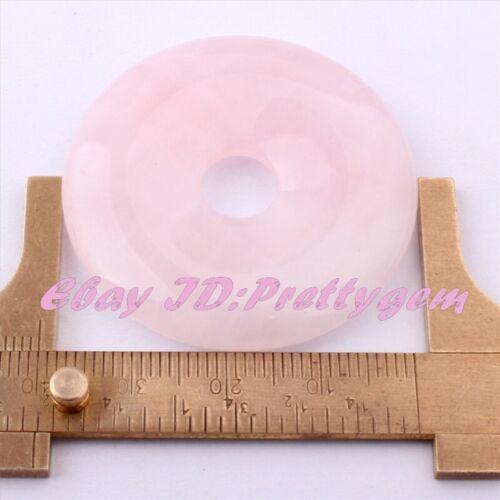 40mm natural Donut Redondo Piedras Preciosas Pandant 1 Piezas para hágalo usted mismo Collar haciendo