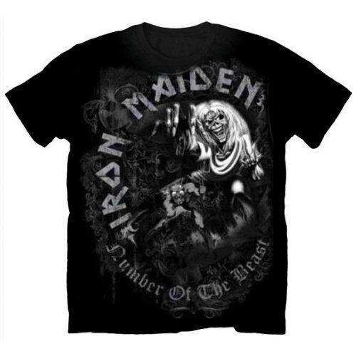 666 oficial Iron Maiden el número de la bestia camiseta Greytone, todos los tamaños