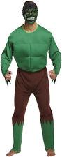 Mens Hulk Monster Super Hero Green Giant Fancy Dress Costume Size L-XL P7318