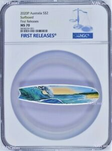 2020-Surfboard-2oz-Colored-Silver-Australia-2-Coin-NGC-MS-70-FR