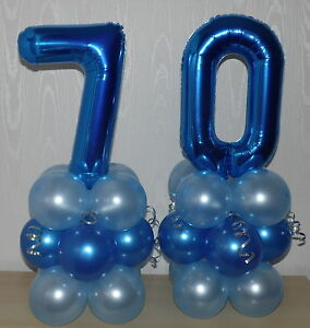 70th BIRTHDAY AGE 70 MALE PARTY FOIL BALLOON DISPLAY TABLE