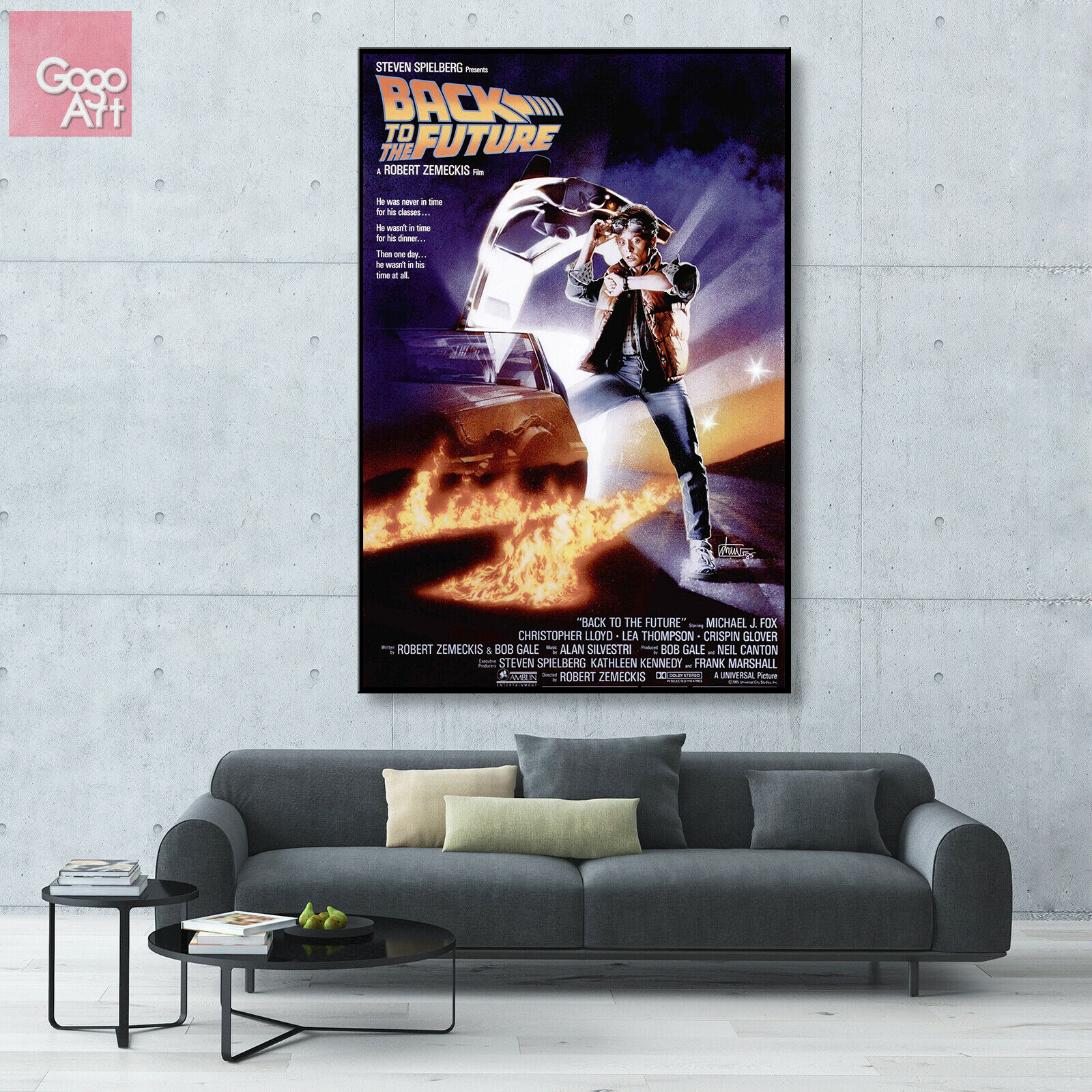 "Back To The Future 2 12/""x8/"" Classic Movie Silk Poster Wall Decoration"