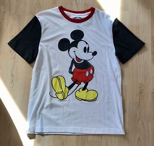 565661f99 Disney Men's Mickey Mouse T-Shirt Graphic Print Cotton Blend White ...