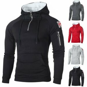 Men-039-s-Winter-Slim-Hoodie-Warm-Fleece-Hood-Sweatshirt-Coat-Jacket-Outwear-Sweater