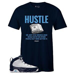 c96e311059e Men's Navy HUSTLE Sneaker T-shirt to Match Jordan Retro 9