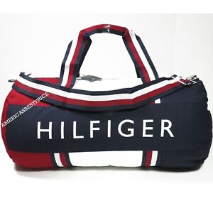 TOMMY HILFIGER NEW LARGE DUFFLE BAG GYM BAG NWT BLUE RED WHITE VERY ...