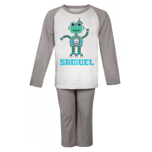 Custom Christmas Gifts.Details About Personalised Robot Pyjamas Custom Pyjamas Christmas Gifts Birthday Girls Boys Pj