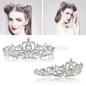 Princess-Wedding-Bridal-Pearl-Rhinestones-Crystal-Crown-Hair-Band-Tiara-Headband