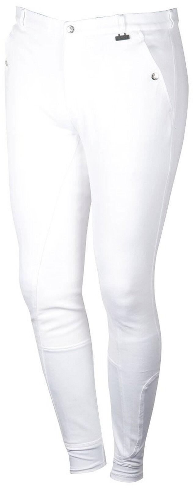 Harry's Horse Uomo Pantaloni Montala Beijing II Plus guarnizione in pieno NUOVO 6 dimensioni Bianco