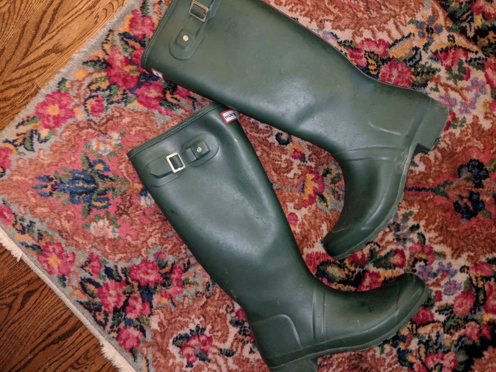 Hunter Original Tall Rain Boots GREEN GREEN GREEN HUNTER Women's Size 9 c84fa4