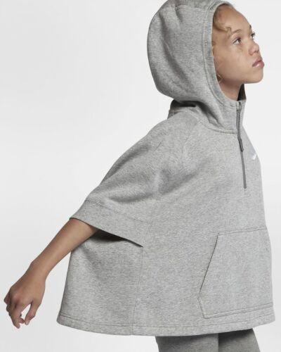 NWT Nike Big Girl Youth NSW Half Zip Fleece Poncho Pullover Size S M 890250