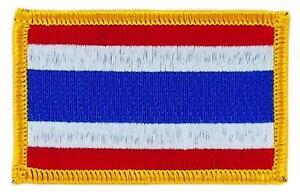 Patch-ecusson-brode-Drapeau-THAILANDE-THAILANDAIS-Thermocollant-Insigne-Blason