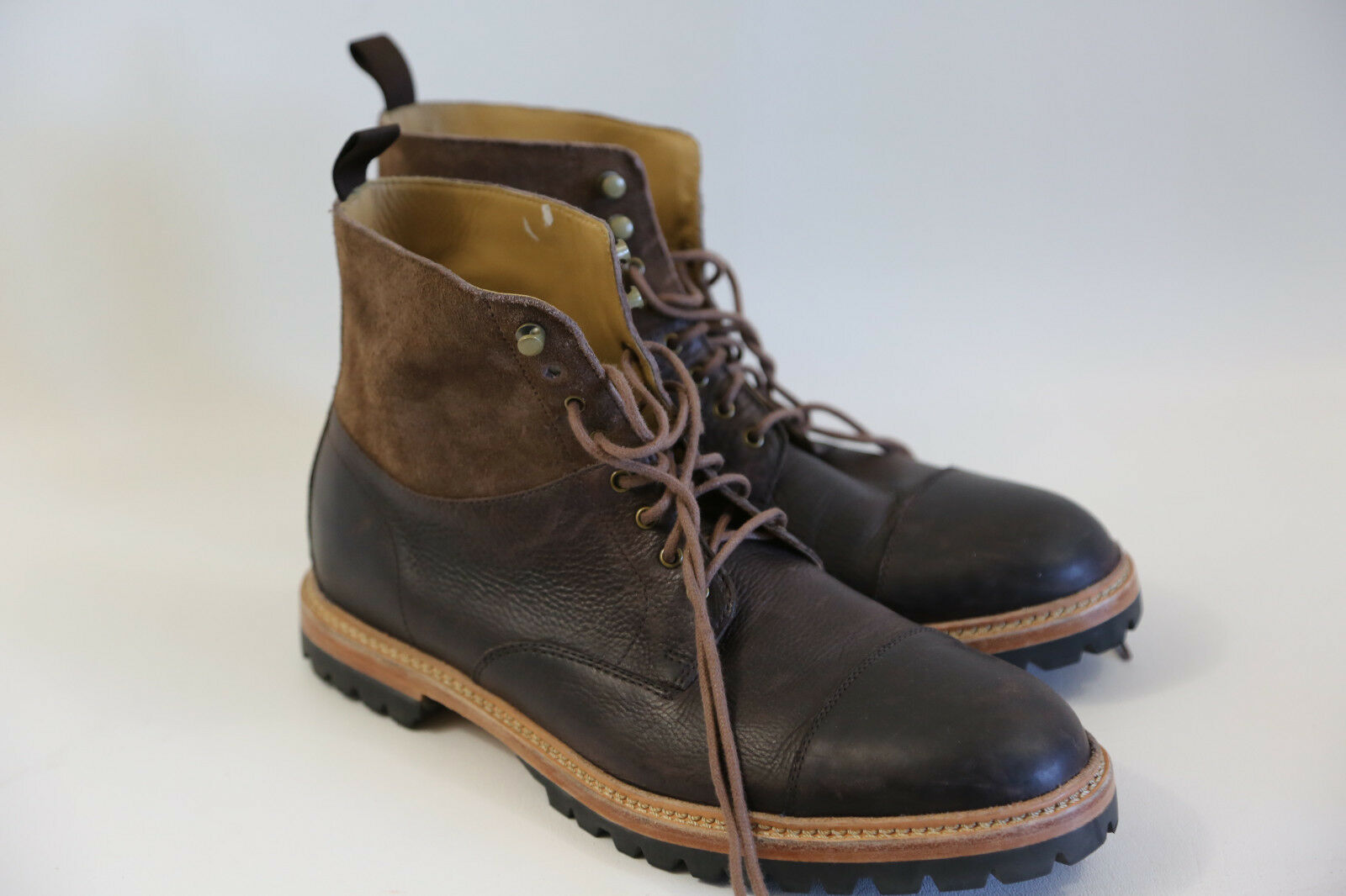 Cole Haan 'Judson' Cap Toe Mid bota Talla 11.5    MADE IN INDIA