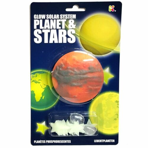 Glow in the Dark Planet and Stars Fun Childrens Room Ceiling Decorations
