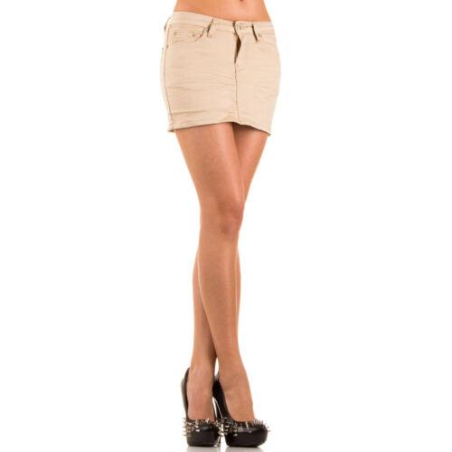 Damen Röcke Minirock Jeans Rock kurz Stretch Hüftrock Sommerrock Strass