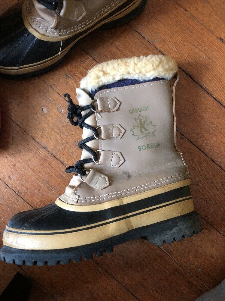 IMPERFECT Womens Sorel Caribou Snow Boot Waterproof Leather Wool Insulated  US 7