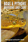 Boas and Pythons Breeding and Care by Annette T. Wright, Erik D. Stoops (Hardback, 1994)