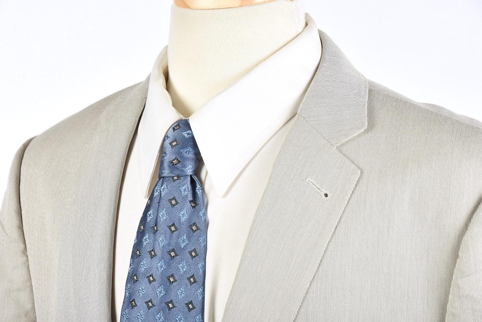 J CREW Ludlow Blazer Sz 42 R in bluee White Hairline Stripe Summer Blazer