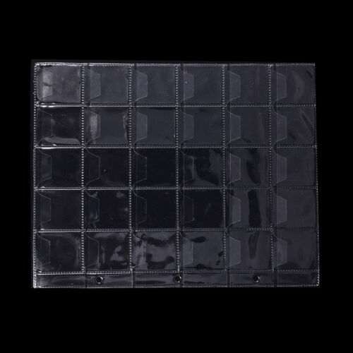 10 sheets 30 pockets plastic coins container for money collection PV