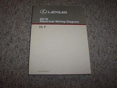 2010 lexus isf is f factory original electrical wiring diagram manual book   ebay