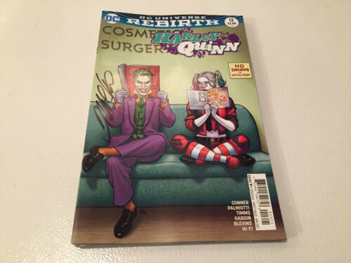SIGNED FRANK CHO DC COMICS REBIRTH HARLEY QUINN #13 A:JOKER W//COA 200/% GUARANTEE