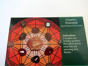 CREATIVE-POTENTIAL-Grid-Card-Healing-Crystals-QTY1-4x5inch-Cardstock-Vitality