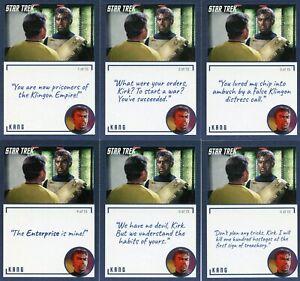 Star-Trek-TOS-Archives-amp-Inscriptions-card-77-Kang-all-15-different-Var
