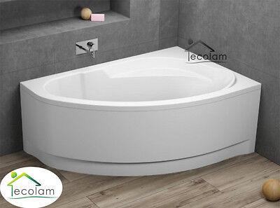 Badewanne Wanne Eckwanne 160 x 100 cm optional Schürze Ablauf Verkleidung rechts