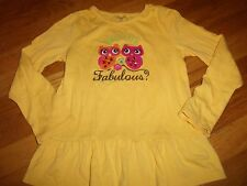 GYMBOREE SHIRT TOP SIZE 6 YEARS WARM MINT BLOUSE FALL FOR AUTUMN OWL FABULOUS