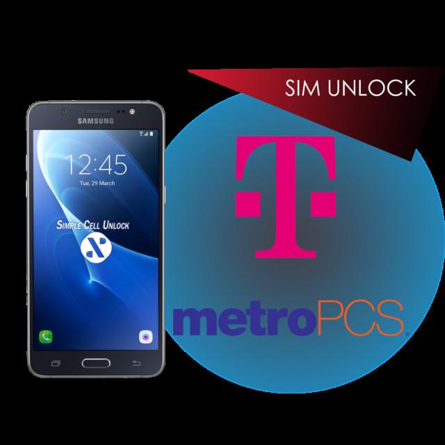 Samsung Galaxy J3 J7 Prime T-Mobile MetroPCS SIM Unlock Remote Service  INSTANT!