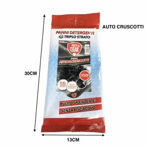 Confezione-20-Panni-Detergenti-Triplo-Strato-Pulisce-Auto-Cruscotti-Interni-hmj