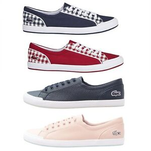 bf1804a80b69 Lacoste Womens Fashion Sneakers Lancelle Lace 6 Eye NEW Casual Shoes ...