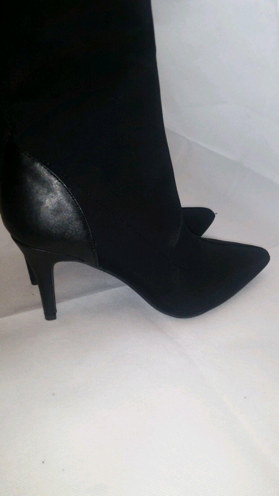 Zapatos De Cuero Mujer botas estilo Tacones Negro Tamaño 8.5 estilo botas Charles 9475a1