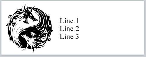 Personalized Address Labels Yin Yang Dragons Buy 3 get 1 free Jx 607