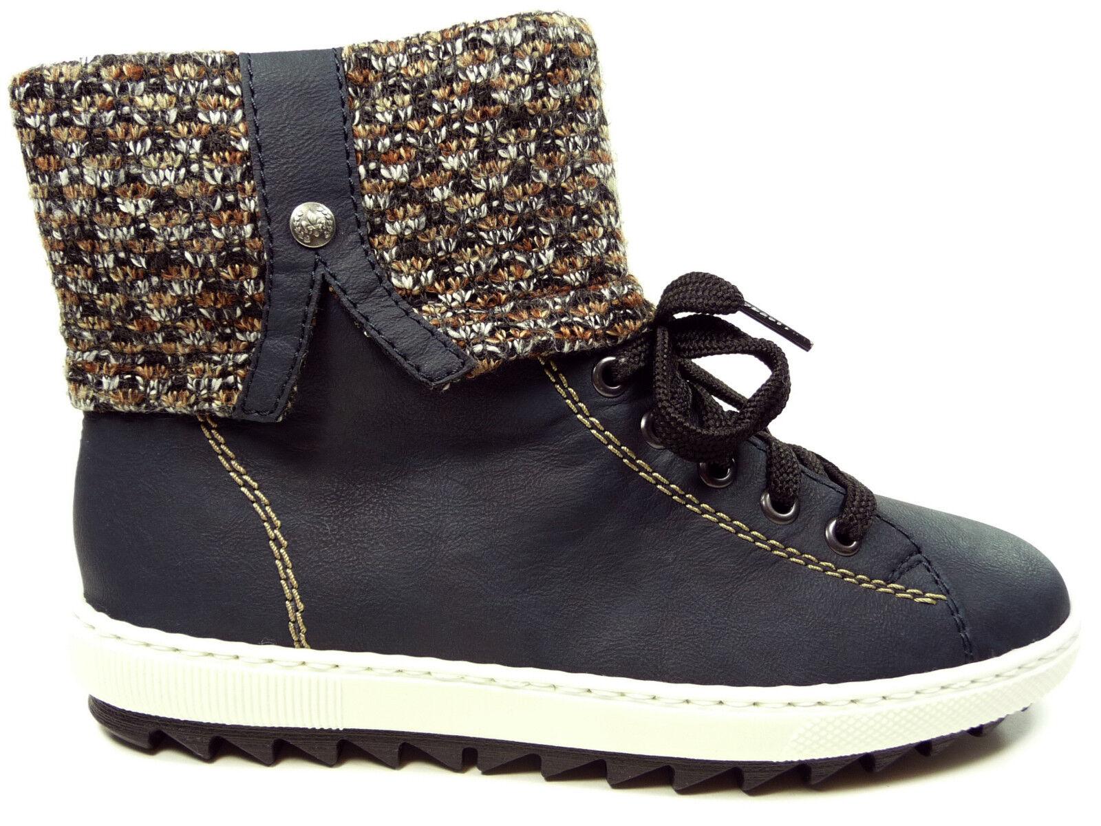 Rieker Damenschuhe Stiefelette Stiefel Stiefel Stiefel in Blau Y8443-14 86ecbe