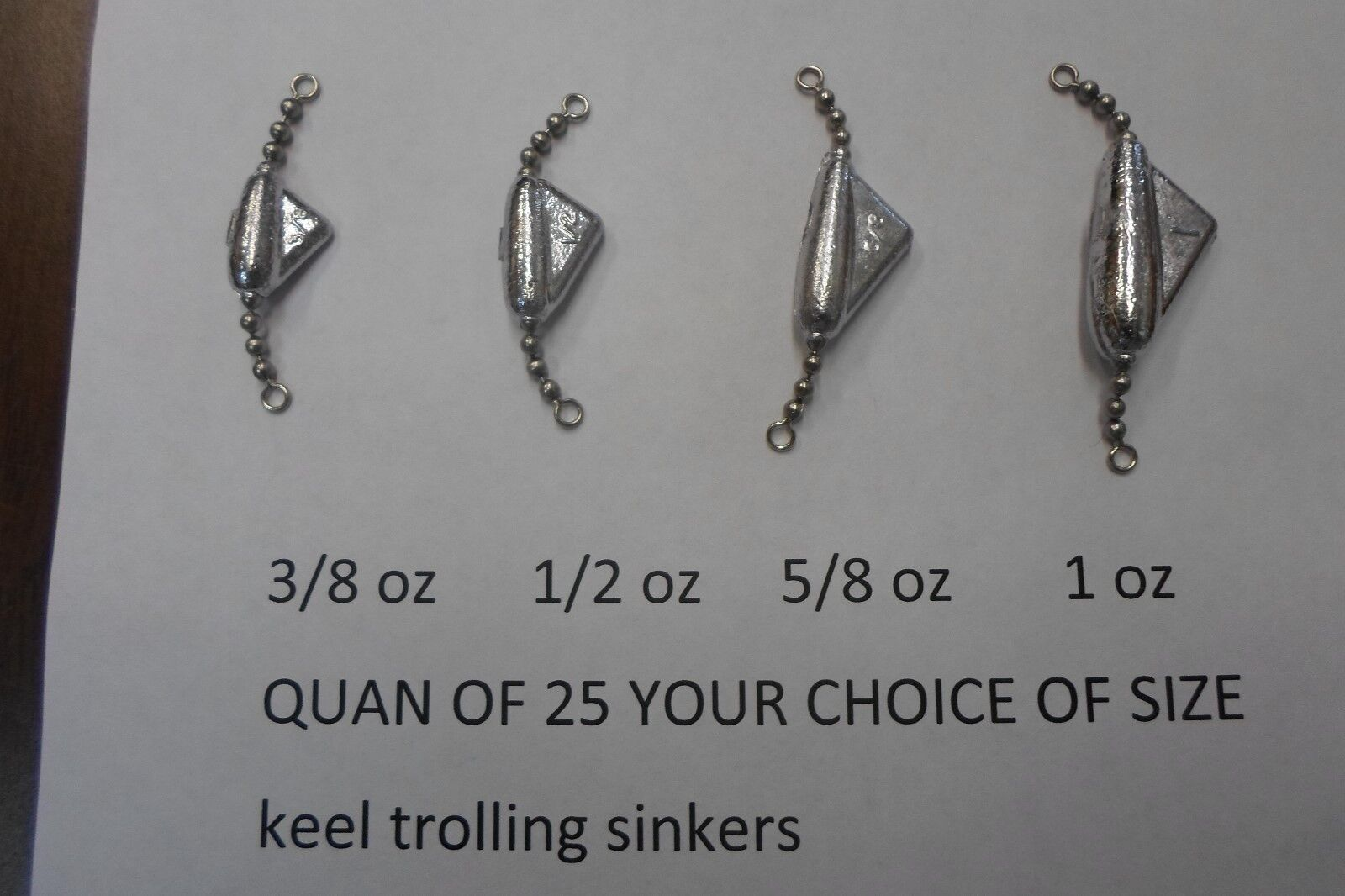 QUAN OF 25 KEEL SINKERS TROLLING 3 8,1 2,5 8,1 OZ YOUR CHOICE